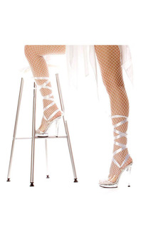 Bella White Lace up Angel High Heels Adult Shoes