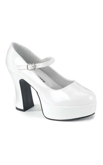 White Mary Jane High Heels Adult Shoes