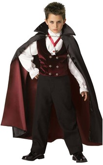 GOTHIC VAMPIRE LORD ELITE DELUXE CHILD BOYS FANCY DRESS HALLOWEEN SCARY COSTUME