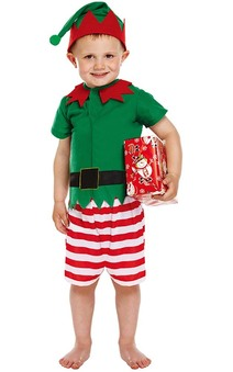 Boy's Elf Child Christmas Costume