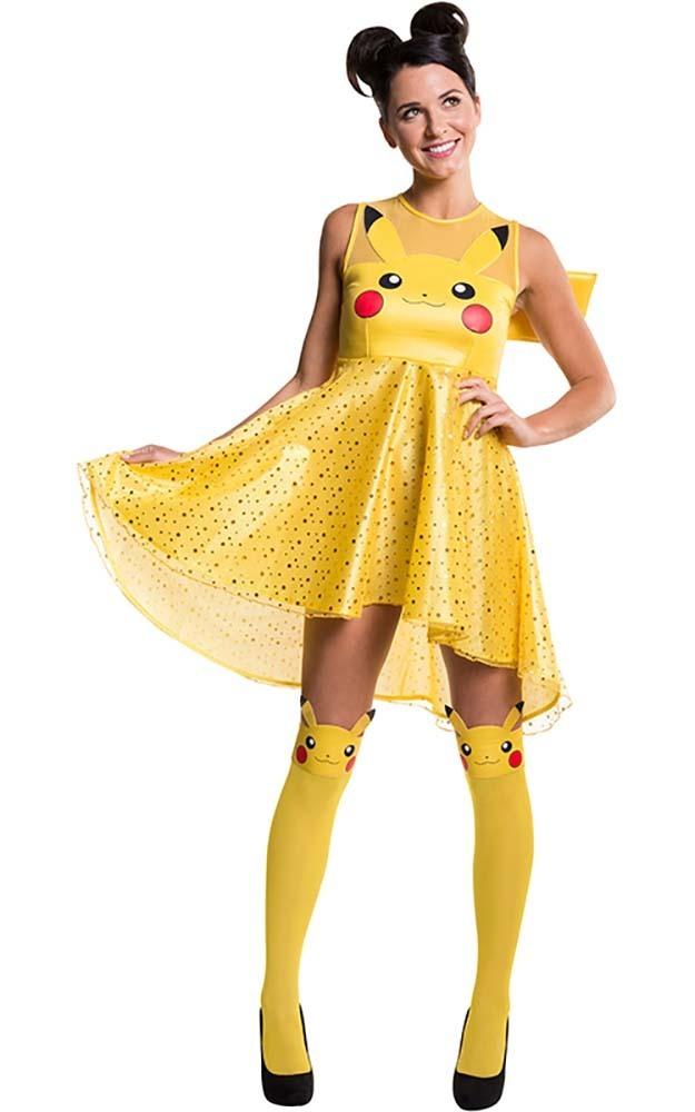 LICENSED PIKACHU ADULT POKEMON WOMENS FANCY DRESS HALLOWEEN COSTUME - eBay