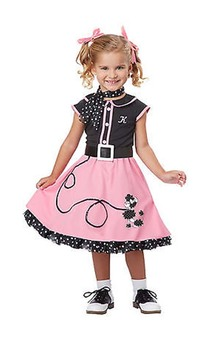50's Poodle Cutie Toddler Costume
