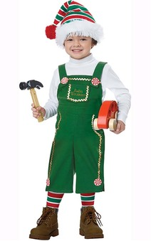 Jolly Lil Elf Toddler Christmas Workshop Costume