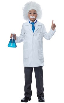 Albert Einstein Scientist Lab Coat Child Costume