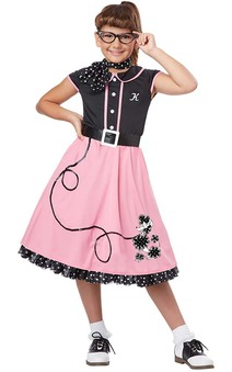 50's Sweetheart Child Rockabilly Dress Costume