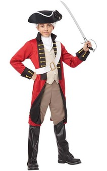British Red coat Soldier Child Redcoat Costume
