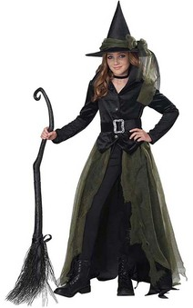 Cool Witch Child Stylish Gothic Halloween Costume