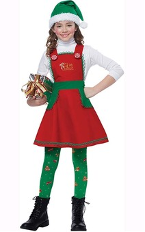 Elf In Charge Child Christmas Workshop Costume