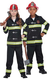 Junior Fire Chief Fire Fighter Child Fireman Costume