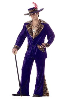 Adult Pimp Purple Crushed Velvet Costume