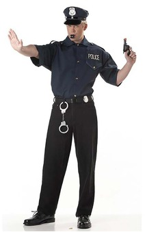 Adult Police Man Costume