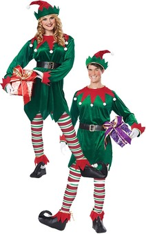 Christmas Elf Adult Santa's Helper Costume