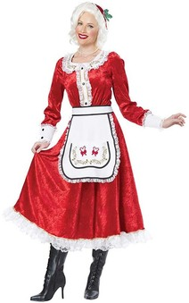 Classic Mrs Claus Adult Santa Costume
