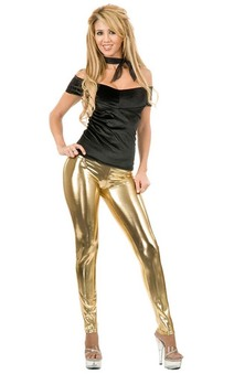 Gold Metal Leggings Adults Costume Accessorie