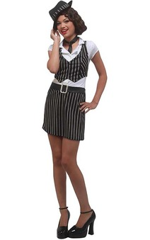 Mobster Girl Gangster Teen Costume