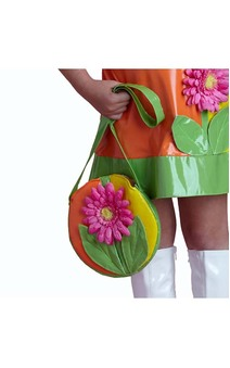 CHILD GIRLS FLOWER POWER HIPPIE BAG