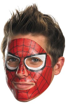 Adult Spiderman Spider Man Face Paint Tattoo Mask