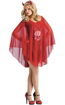 Devil Poncho Adult Costume