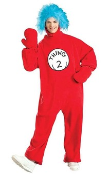 Thing 2 Adult Dr Seuss Cat In The Hat Costume