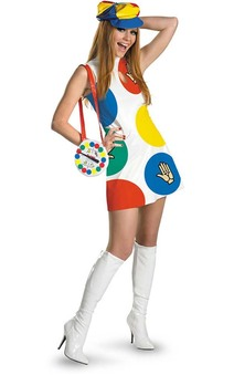 Twister Retro 60's 70's Boardgame Adult Costume