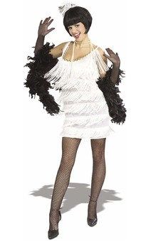 White Broadway Babe Flapper Adult Costume