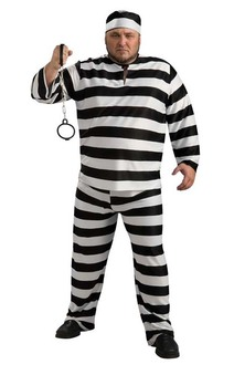 Convict Adult Plus Costume