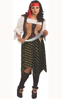 Deluxe Pirate Wench Adult Plus Costume