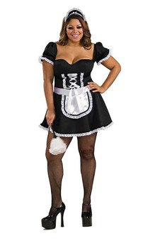 FRENCH MAID PLUS SIZE ADULTS COSTUME