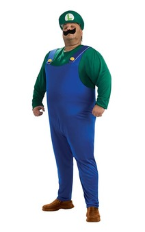 Luigi Adult Plus Mario Bros Costume