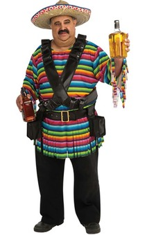 Hombre Plus Size Adult Mexican Costume