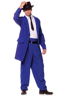 Blue Zoot Suit Gangster Adults Costume