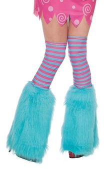 Aqua Fluffies Child Leg Warmers