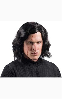 Kylo Ren Star Wars Adult Wig & Scar