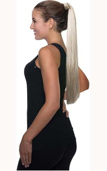 Blonde Long Ponytail Clip Costume Hair Extension