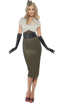 Ww2 Pin Up Spice Darling Plus Adult Costume