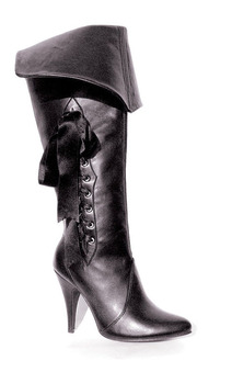 Black Pirate Adult Boot Heels