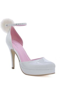 Cottontail Bunny White High Heels Adult Shoes