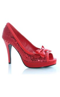 Dorothy Red Glitter Wizzard of Oz High Heel Adult Shoes
