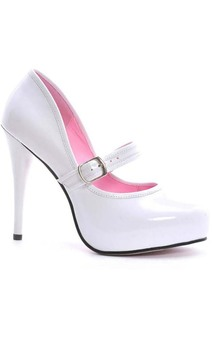 Lady Jane White Adult Heels
