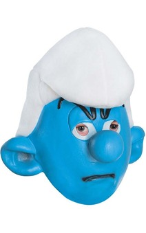 Grouchy Smurf Adult Mask