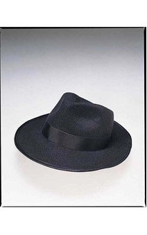 Adult Deluxe Profelt Black Fedora Gangster Hat