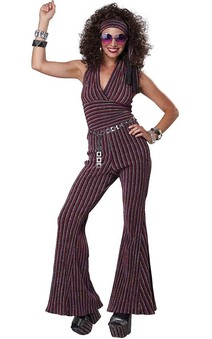 70's Halter Pant Set Adult Costume