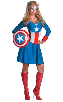 Captain America Womens Adult Costume