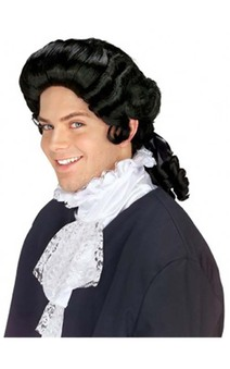 Colonial Man Black Adult Wig