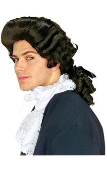 Dark Brown Colonial Man Adult Wig