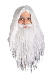 Gandalf Lord Of The Rings Adult Wig & Beard Set