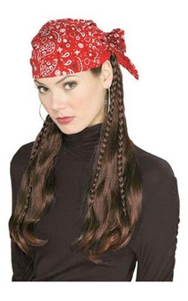 Bandana With Hair Plaits Wig