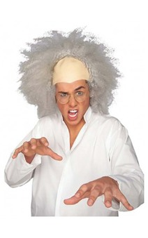 Mad Scientist Grey Adult Wig
