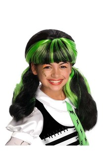 Frankie's Girl Black and Green Wig
