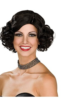 Black Flapper Adult Wig